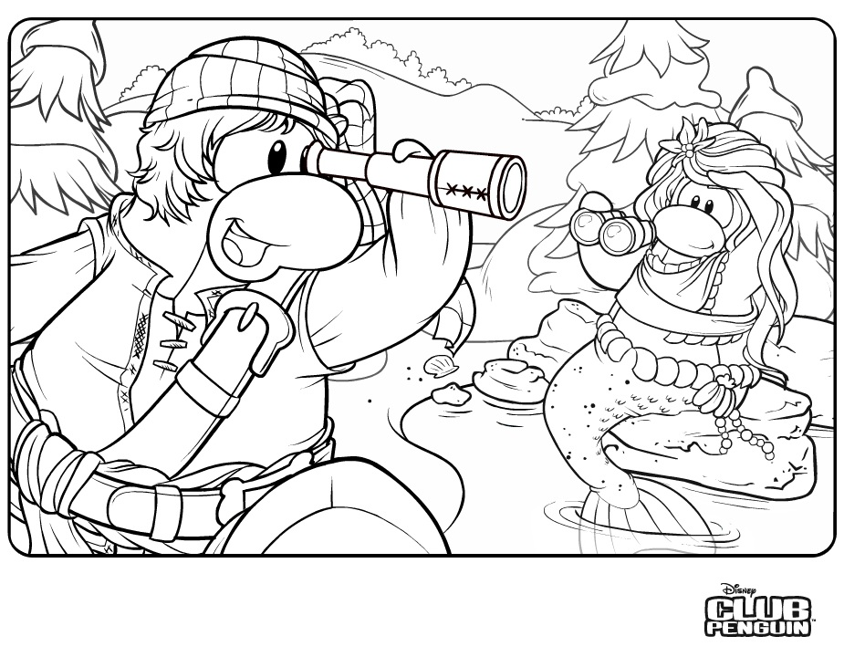 club penquin coloring pages - photo#20